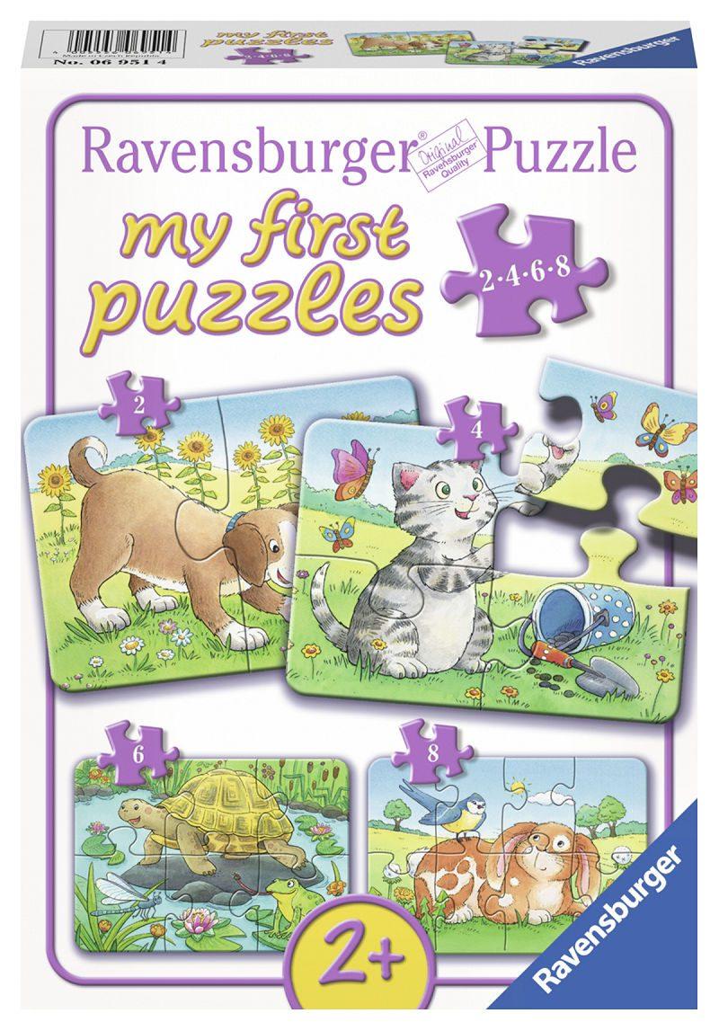 Mijn eerste puzzel Schattige huisdieren 2+4+6+8 stukjes