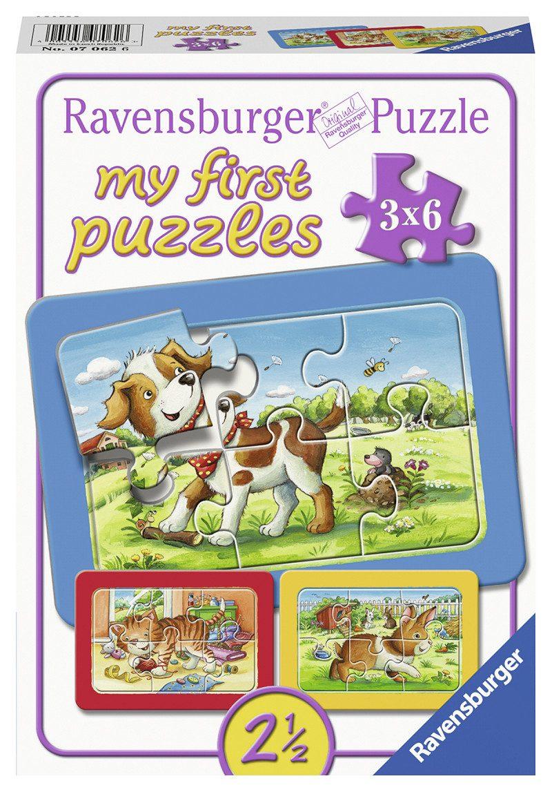 Mijn eerste puzzel Mijn Dierenvriendjes 3x6 stukjes