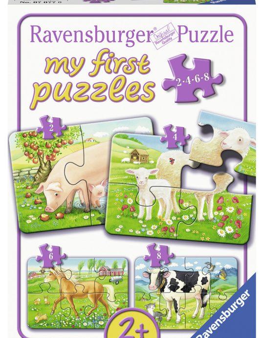 Mijn eerste puzzel Favoriete Dieren 3x6 stukjes