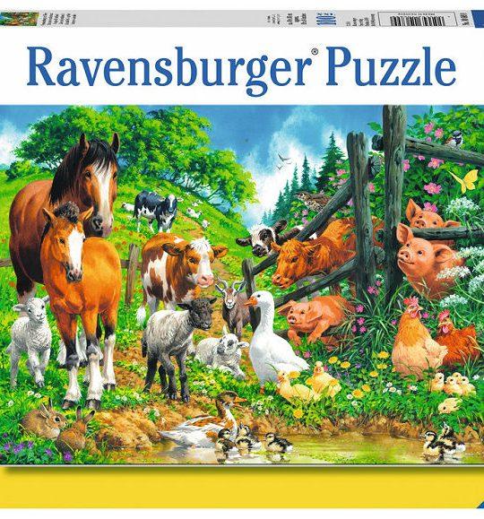 Puzzel 100 XXL Dierenbijeenkomst